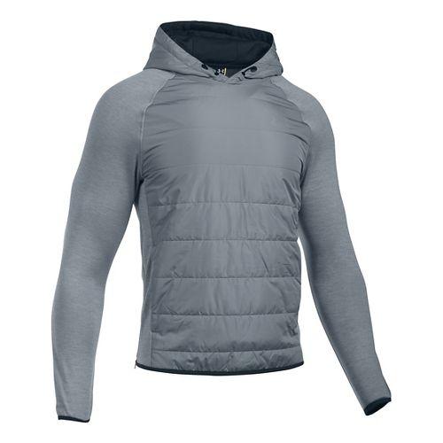 Mens Under Armour Swacket Insulated Popover Hoodie & Sweatshirts Technical Tops - Steel XXL