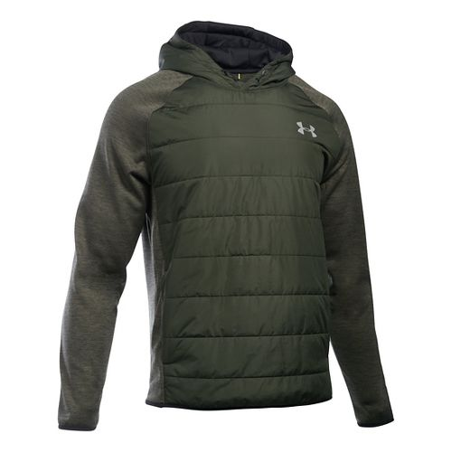 Mens Under Armour Swacket Insulated Popover Hoodie & Sweatshirts Technical Tops - Artillery ...