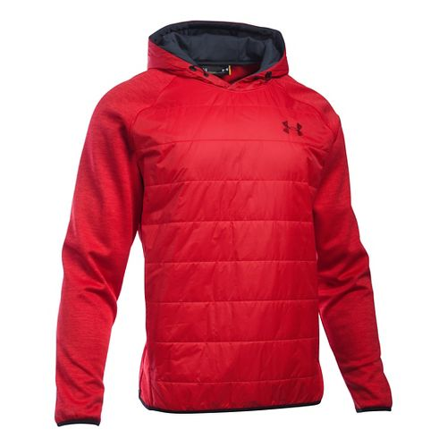 Mens Under Armour Swacket Insulated Popover Hoodie & Sweatshirts Technical Tops - Red 3XL
