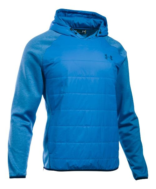 Mens Under Armour Swacket Insulated Popover Hoodie & Sweatshirts Technical Tops - Brilliant Blue XL
