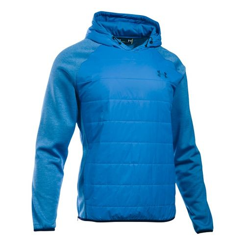 Mens Under Armour Swacket Insulated Popover Hoodie & Sweatshirts Technical Tops - Brilliant ...