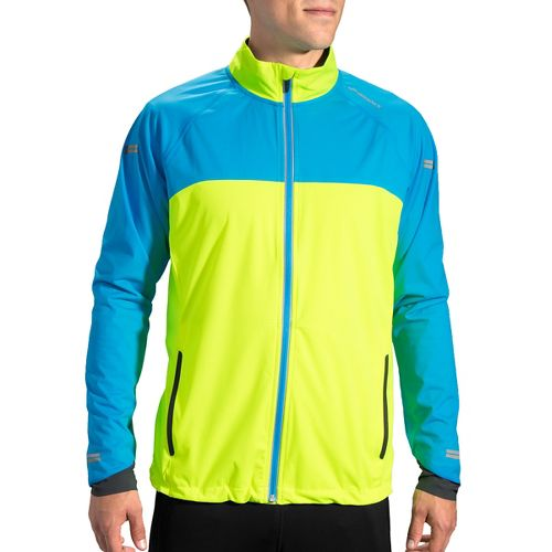 Mens Brooks Drift Shell Running Jackets - Nightlife/Ultra Blue S
