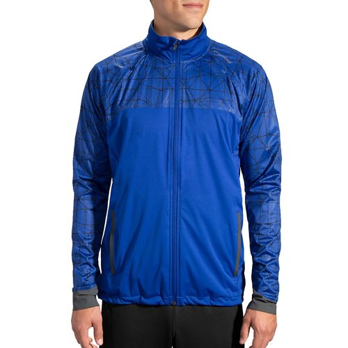 Mens Brooks Drift Shell Running Jackets - Basin/Basin Tangent L
