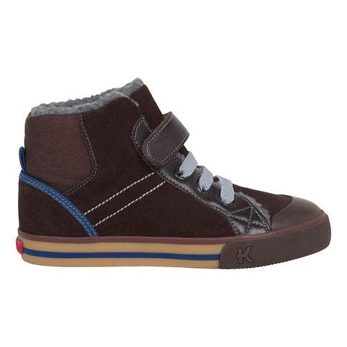 Kids See Kai Run Dane Fur Casual Shoe - Brown 2Y