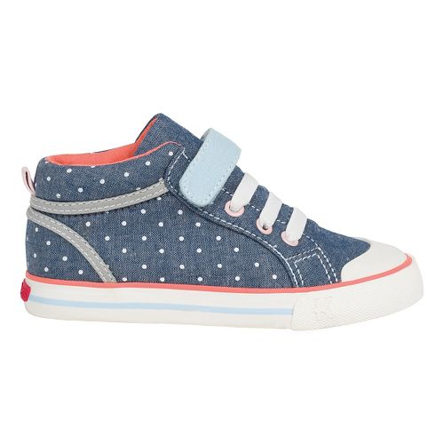 Kids See Kai Run Peyton Casual Shoe - Blue/Dots 9.5C