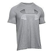Mens Under Armour Tech Horizon Big Logo T Short Sleeve Technical Tops