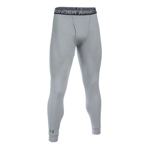 Mens Under Armour Thermal Tights & Leggings Pants - Grey Heather L