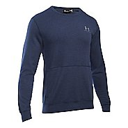 Mens Under Armour Triblend Crew Long Sleeve Technical Tops