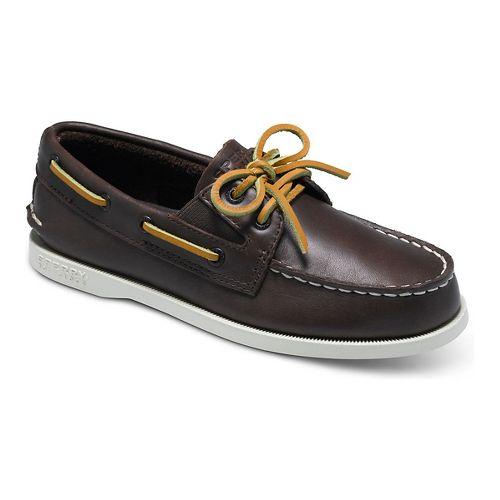 Kids Sperry Authentic Original Slip On Casual Shoe - Brown 5.5Y