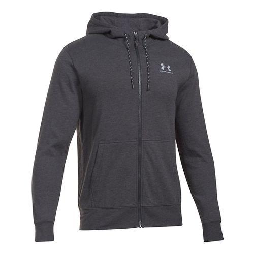 Mens Under Armour Triblend Full-Zip Hoodie & Sweatshirts Technical Tops - Asphalt Heather XLR