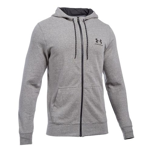 Mens Under Armour Triblend Full-Zip Hoodie & Sweatshirts Technical Tops - Greyhound Heather LR