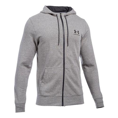 Mens Under Armour Triblend Full-Zip Hoodie & Sweatshirts Technical Tops - Greyhound Heather SR