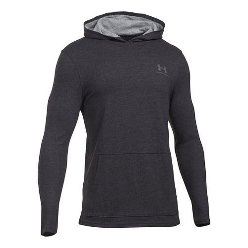 Mens Under Armour Triblend Long Sleeve Jersey Hoodie & Sweatshirts Technical Tops - Asphalt ...
