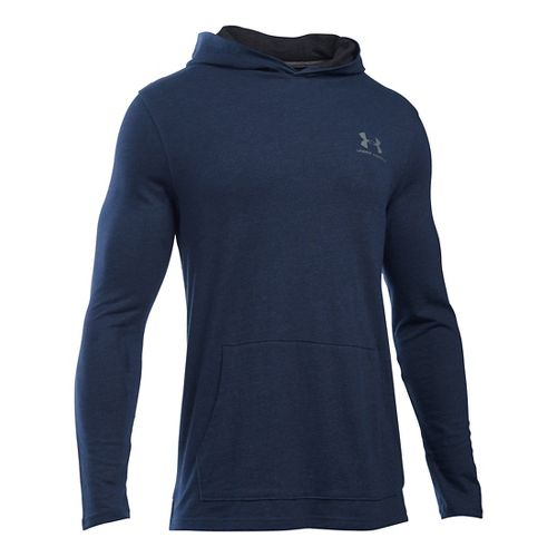 Mens Under Armour Triblend Long Sleeve Jersey Hoodie & Sweatshirts Technical Tops - Midnight ...