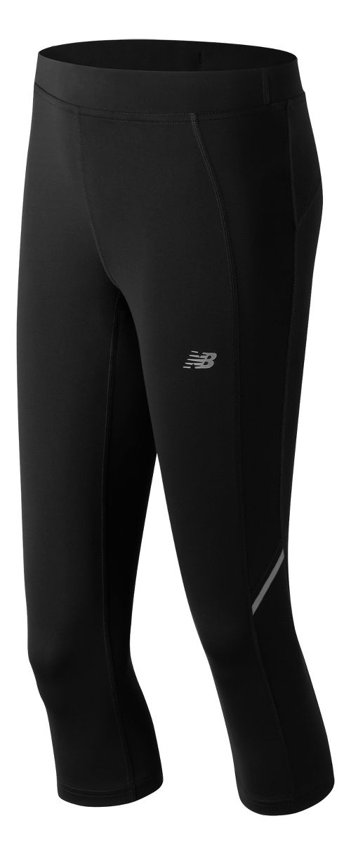 Womens New Balance Accelerate Capris Pants - Black XS