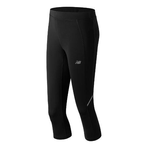 Womens New Balance Accelerate Capris Pants - Black XXL