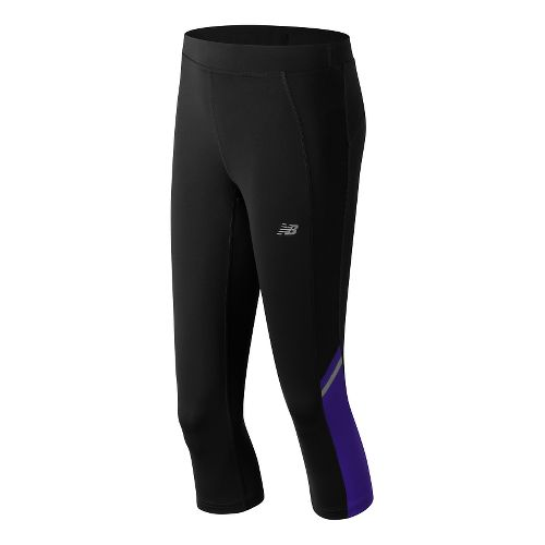 Womens New Balance Accelerate Capris Pants - Spectral M