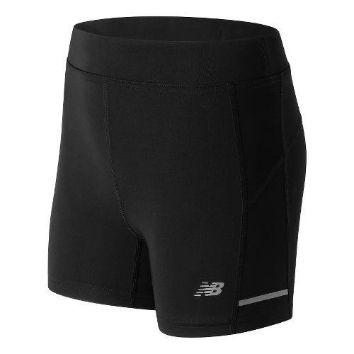 Womens New Balance Accelerate Fitted Unlined Shorts - Black M