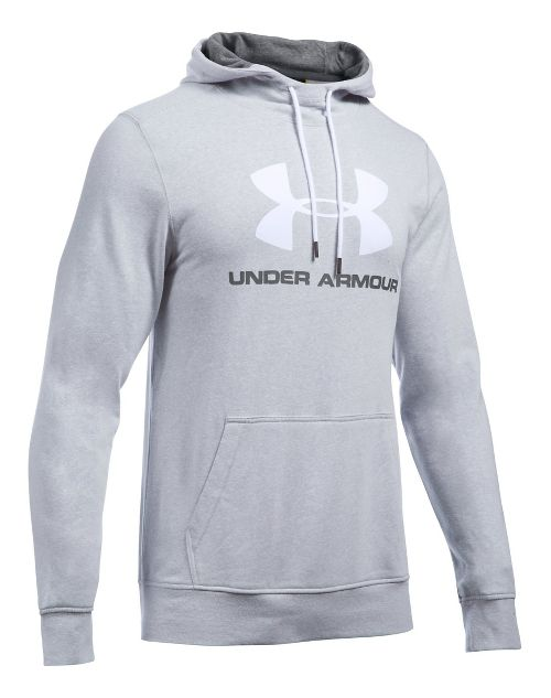 Mens Under Armour Triblend SportStyle Logo Pullover Hoodie & Sweatshirts Technical Tops - Grey ...