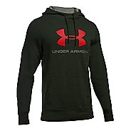 Mens Under Armour Triblend SportStyle Logo Pullover Hoodie & Sweatshirts Technical Tops