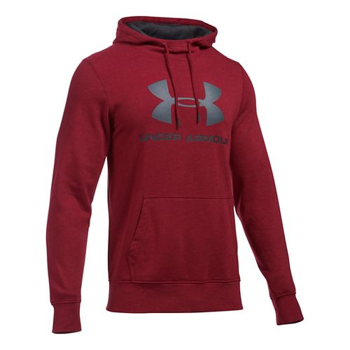Mens Under Armour Triblend SportStyle Logo Pullover Hoodie & Sweatshirts Technical Tops - ...