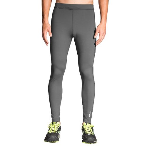 Mens Brooks Greenlight Tights & Leggings Pants - Asphalt/Nightlife L