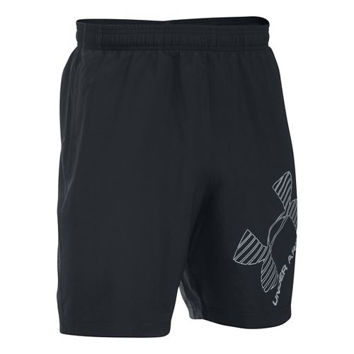 Mens Under Armour Mirage 8 Woven Graphic Unlined Shorts - Black L