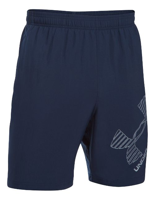 Mens Under Armour Mirage 8 Woven Graphic Unlined Shorts - Midnight Navy XL