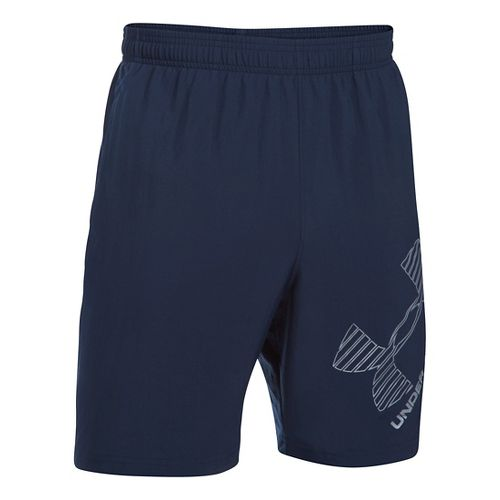 Mens Under Armour Mirage 8 Woven Graphic Unlined Shorts - Midnight Navy L