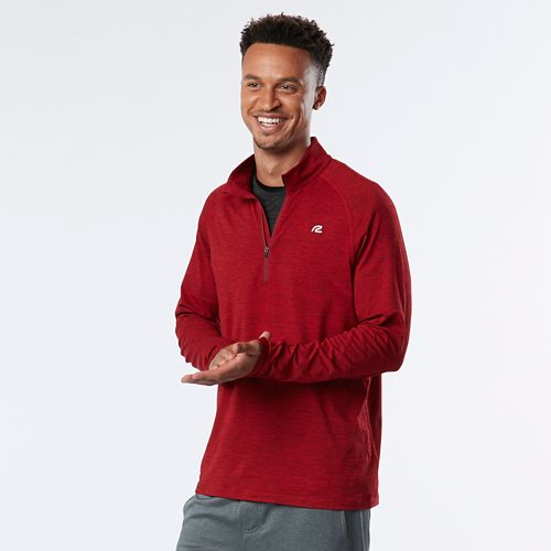 Mens R-Gear In The Zone Half-Zip II & Hoodies Technical Tops - Red Ahead L