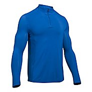 Mens Under Armour Elevated Seamless 1/4 Zip Long Sleeve Technical Tops