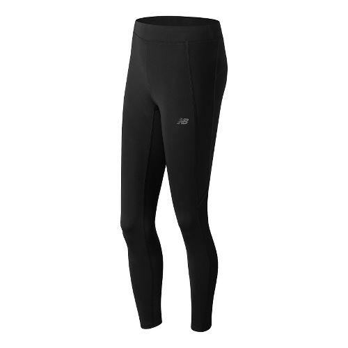 Womens New Balance Accelerate Tights & Leggings Pants - Black L