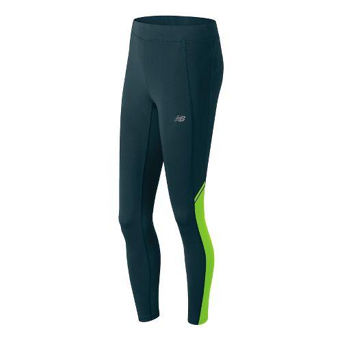 Womens New Balance Accelerate Tights & Leggings Pants - Tornado L