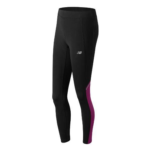 Womens New Balance Accelerate Tights & Leggings Pants - Jewel M