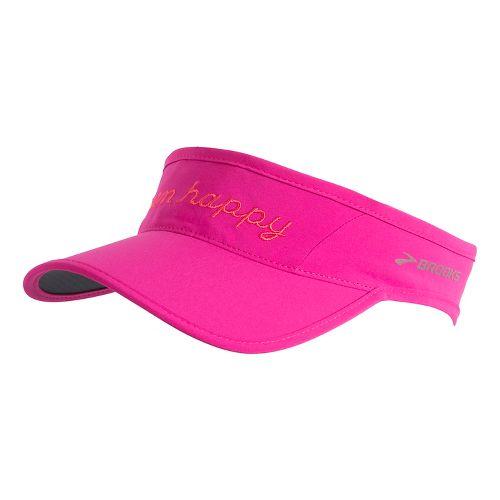 Brooks Run Happy Sherpa Visor Headwear - Petal OS