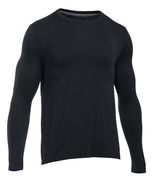 Mens Under Armour Elevated Seamless Tee Long Sleeve Technical Tops - Black L