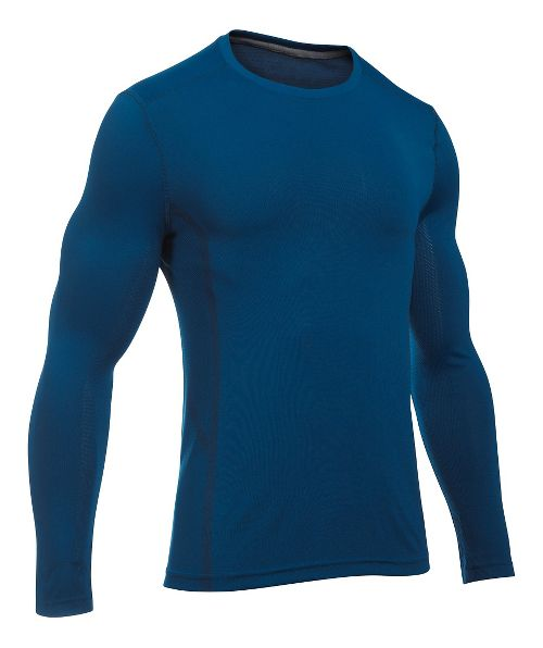 Mens Under Armour Elevated Seamless Tee Long Sleeve Technical Tops - Heron XL