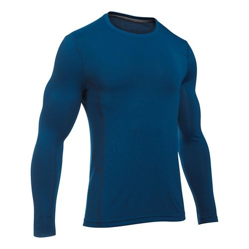 Mens Under Armour Elevated Seamless Tee Long Sleeve Technical Tops - Heron M