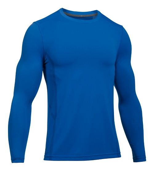 Mens Under Armour Elevated Seamless Tee Long Sleeve Technical Tops - Blue Marker XXL