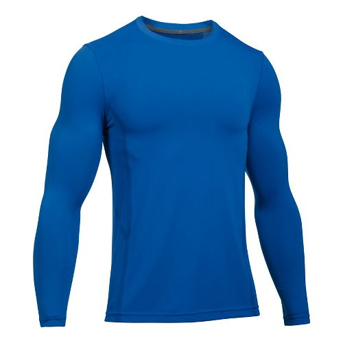 Mens Under Armour Elevated Seamless Tee Long Sleeve Technical Tops - Blue Marker XL