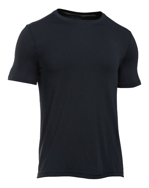Mens Under Armour Elevated Seamless Tee Short Sleeve Technical Tops - Black/Graphite L