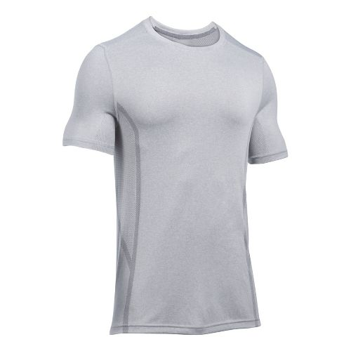 Mens Under Armour Elevated Seamless Tee Short Sleeve Technical Tops - Graphite L