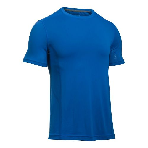 Mens Under Armour Elevated Seamless Tee Short Sleeve Technical Tops - Blue Marker M