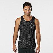 Mens Road Runner Sports Runners High Geometric Singlet Sleeveless & Tank Technical Tops - Black L