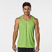 Mens Road Runner Sports Runners High Geometric Singlet Sleeveless & Tank Technical Tops - Grass ...