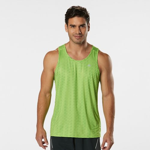 Mens Road Runner Sports Runners High Geometric Singlet Sleeveless & Tank Technical Tops - Grass ...
