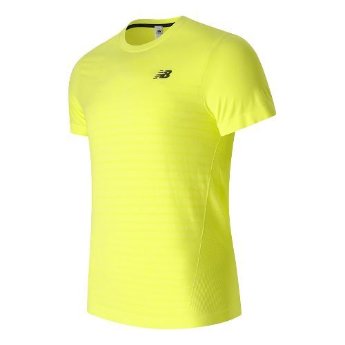 Mens New Balance M4M Seamless Short Sleeve Technical Tops - Firefly Heather XL