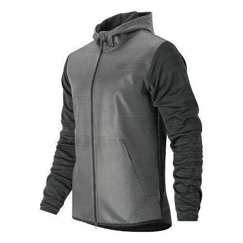 Mens New Balance Kairosport Cold Weather Jackets - Black Heather L