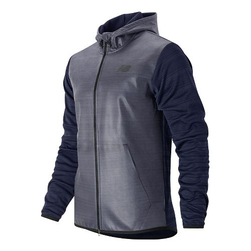 Mens New Balance Kairosport Cold Weather Jackets - Pigment Heather S