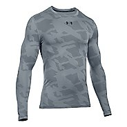 Mens Under Armour ColdGear Armour Jacquard Crew Long Sleeve Technical Tops